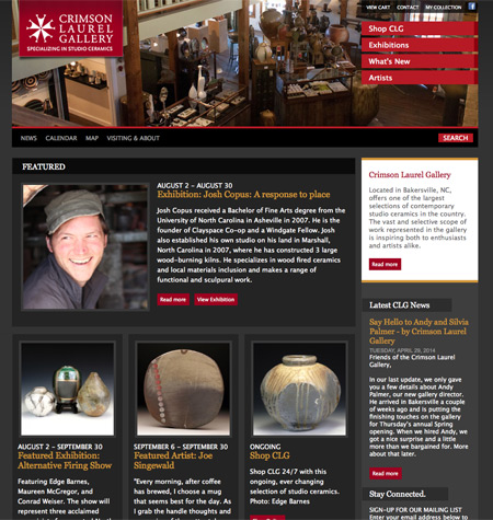 Featured Client: Crimson Laurel Gallery